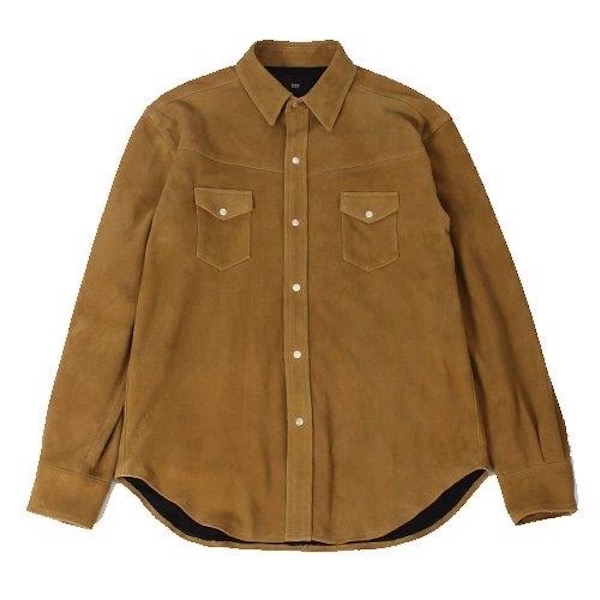 Rags McGREGOR SUEDE LEATHER WESTERN SHIRT