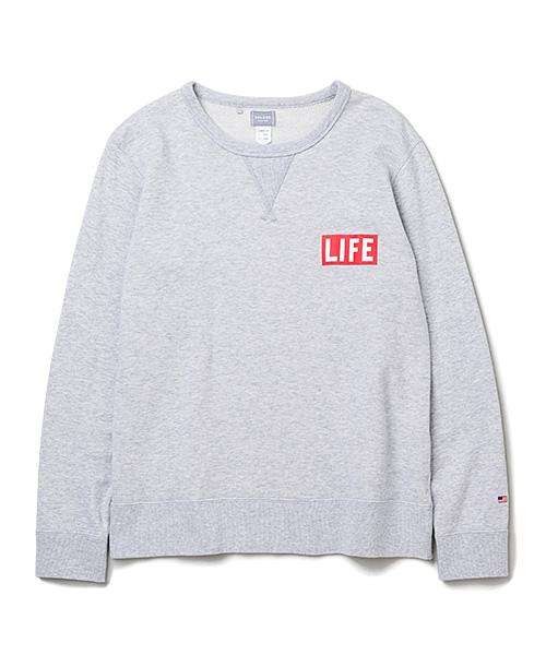 DELUXE × LIFE LOGO SWEAT