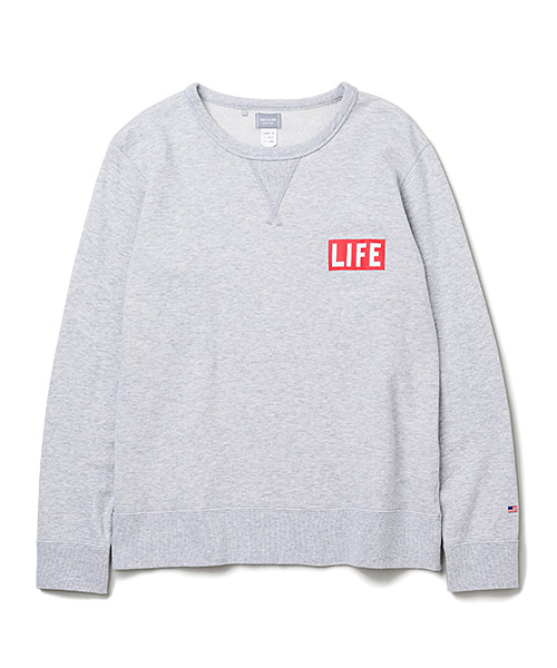 DELUXE × LIFE LOGO SWEAT