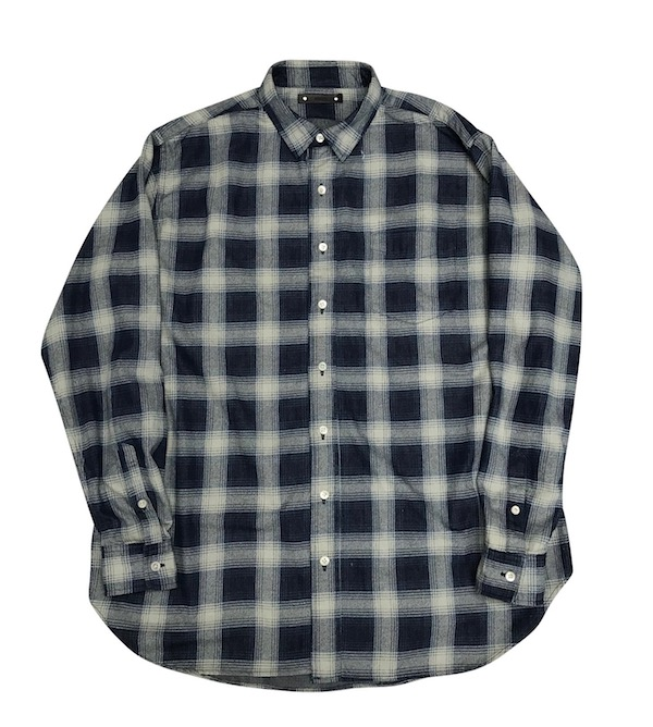 MINEDENIM Denim Check Print Loose SH M