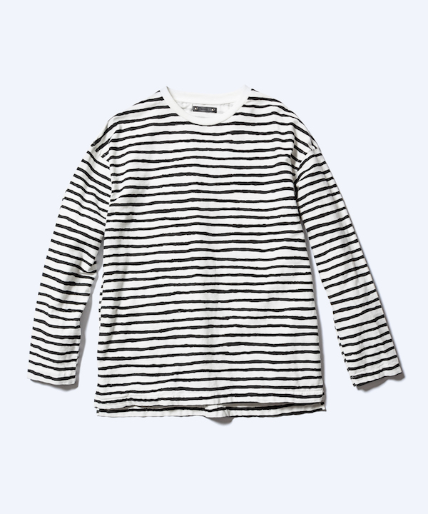 MINEDENIM Hand Drawing Border L/S T-SH