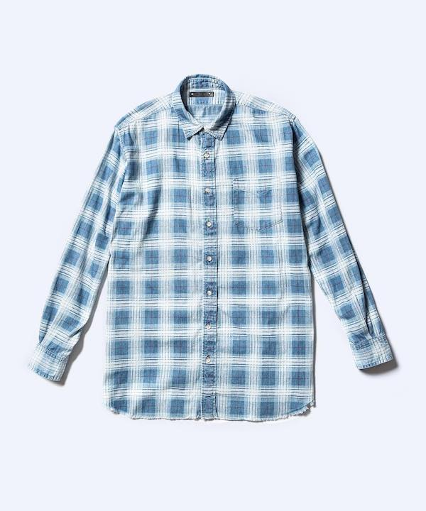 MINEDENIM Denim Check Print Loose SH