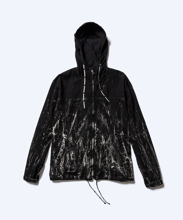 MINEDENIM Black Burn Hooded Parka