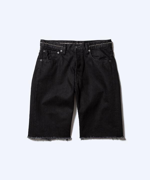 MINEDENIM Studs Cutoff Shorts OWS