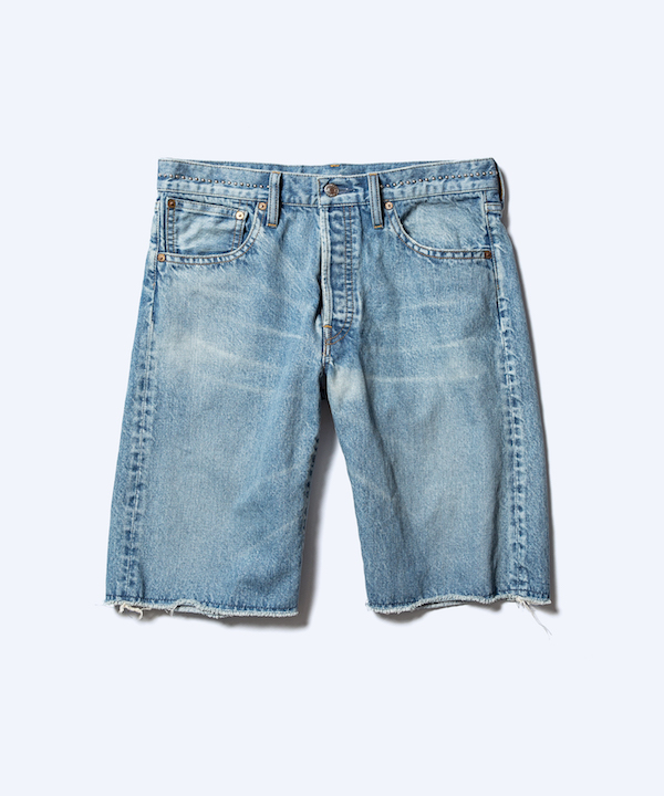 MINEDENIM Studs Cutoff Shorts USD