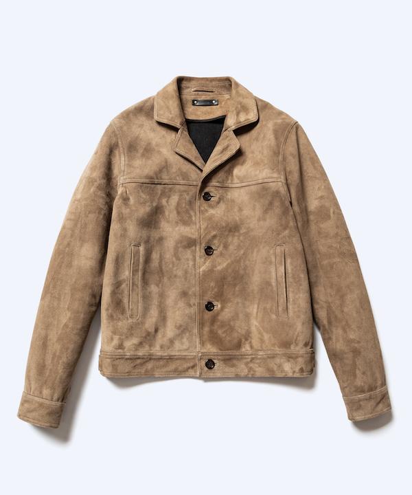MINEDENIM Suede Leather Denim 4B JKT