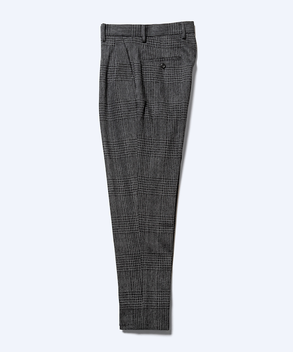 MINEDENIM Discharge Denim H/W Tapered Tuck PS