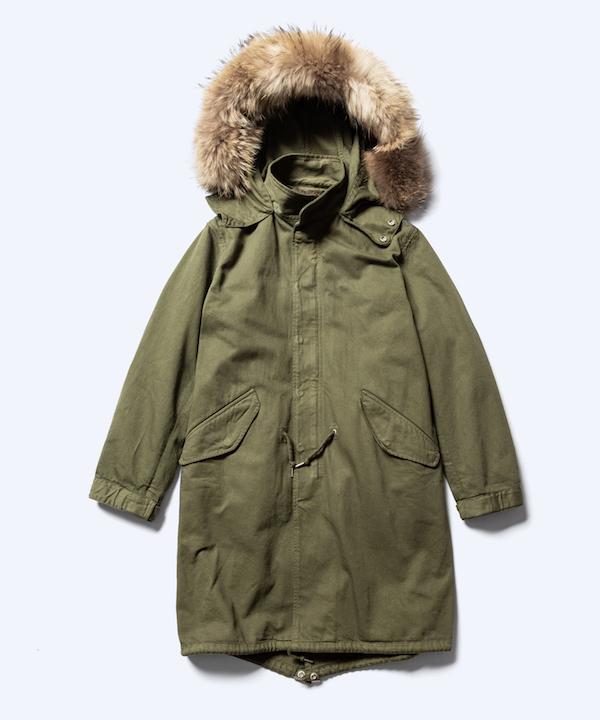 MINEDENIM Denim Quilt Liner Mods Coat