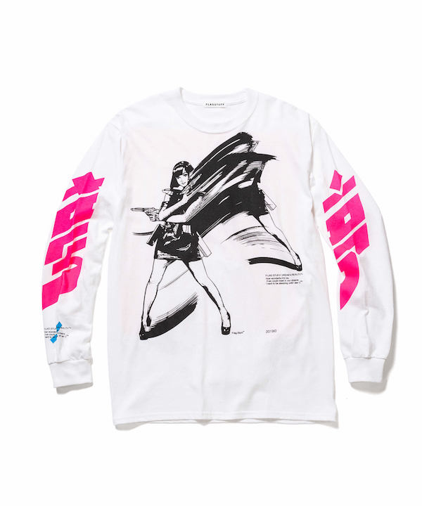 """F-LAGSTUF-F  """"Dream and reality"""" L/S Tee2"""