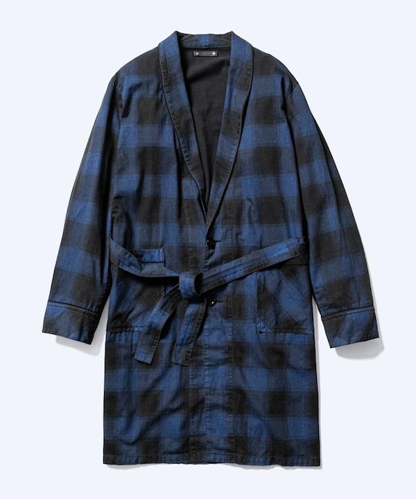 MINEDENIM Black Denim Check Gown