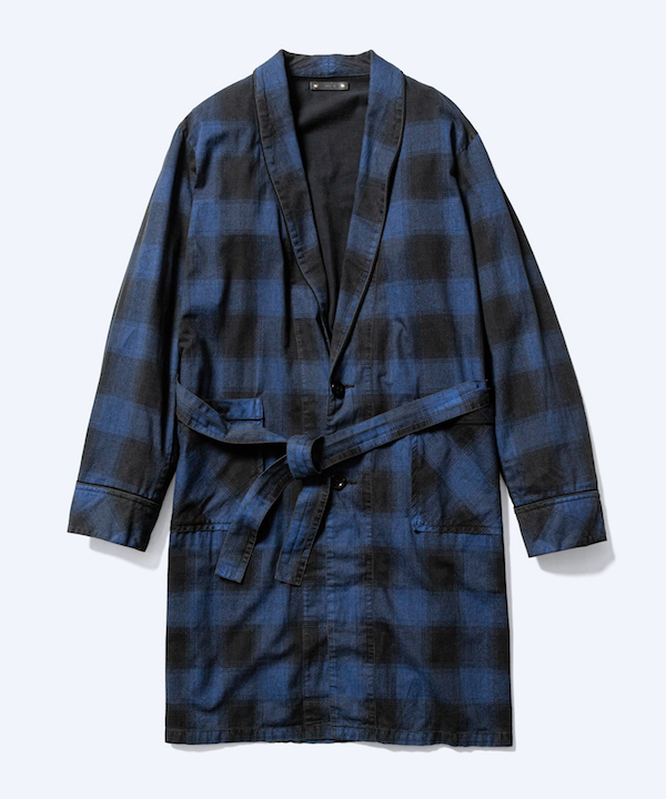 MINEDENIM Black Denim Check Gown