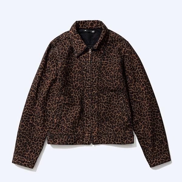 MINEDENIM Leopard ZIP-GJKT