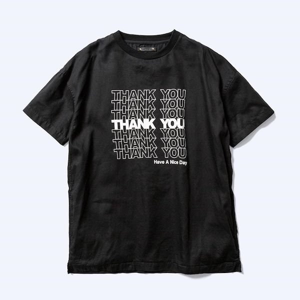 MINEDENIM Thank You Print Denim T-SH