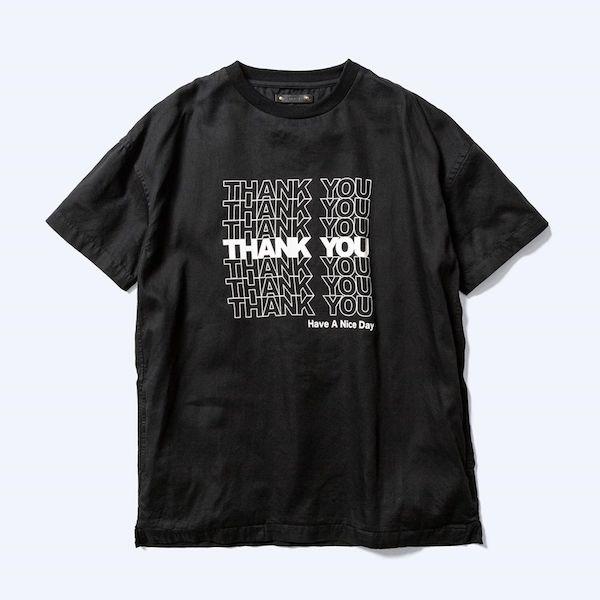 MINEDENIM Thank You Print Denim T-SH