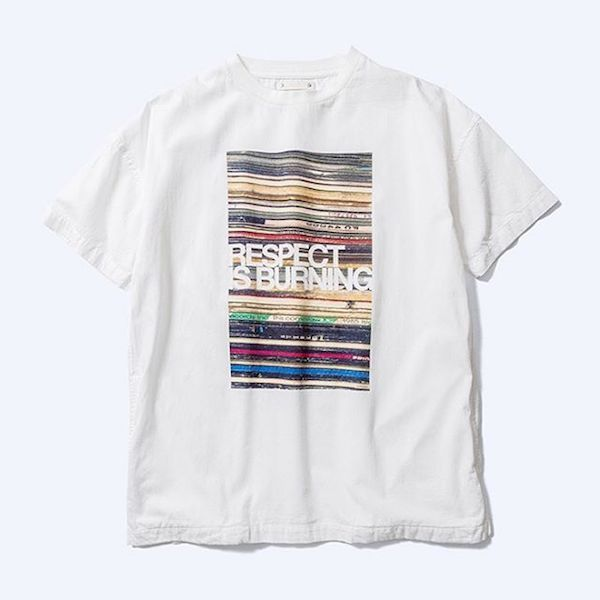 MINEDENIM Flyer Print Denim T-SH