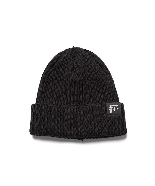 """F-LAGSTUF-F """"F"""" LOGO KNIT CAP"""