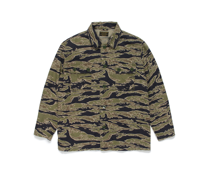 WACKO MARIA TIGER CAMO ARMY SHIRT (TYPE-1)