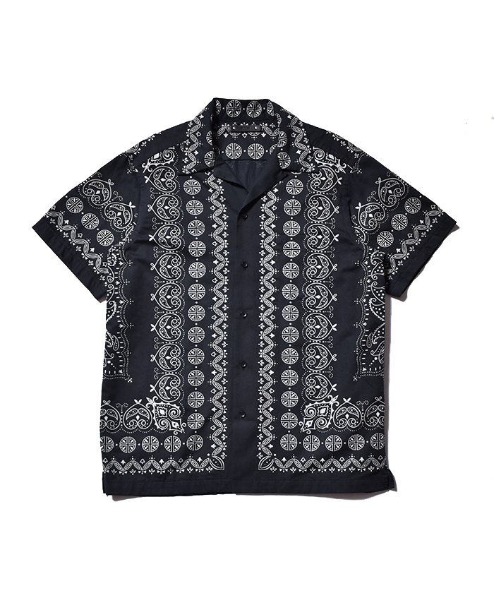 MINEDENIM Bandana Denim S/S Open Collar SH