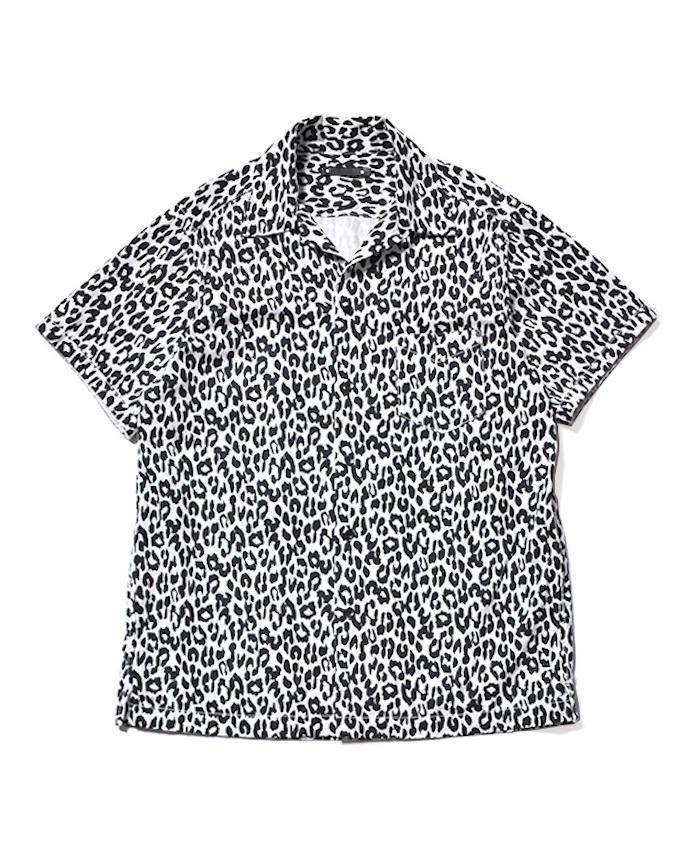 MINEDENIM Leopard Denim S/S Open Collar SH