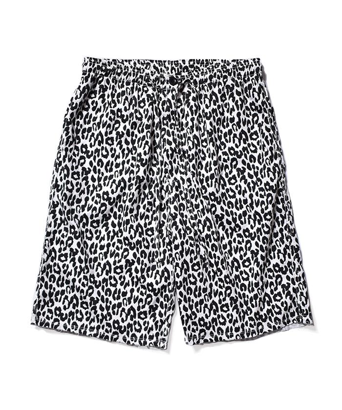MINEDENIM Leopard Denim Surf Shorts