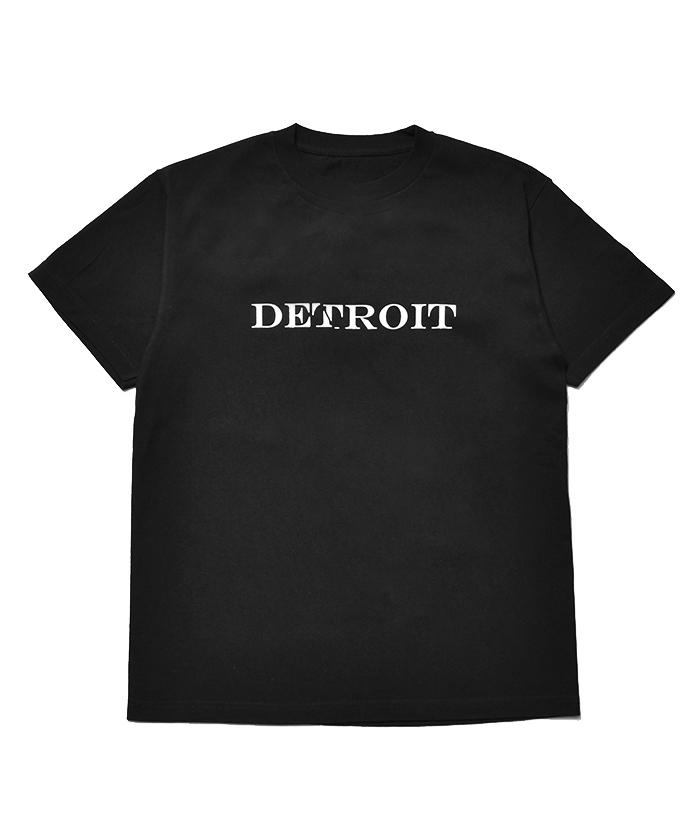 MINEDENIM True.R Letterd Print Detroit T-SH