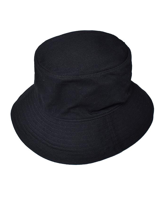 MINEDENIM Black Denim Bucket HAT