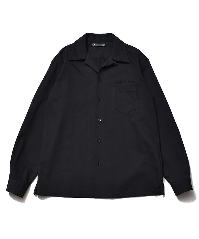MINEDENIM Wool Denim Flannel Open Collar SH