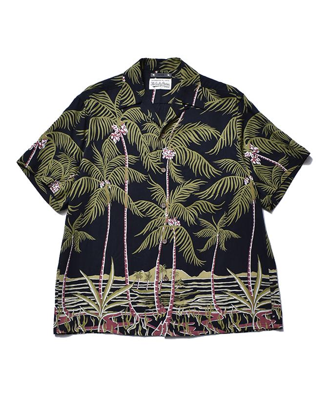 WACKO MARIA × MINEDENIM Palm tree Hawaiian SH