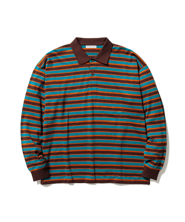F-LAGSTUF-F BORDER KNIT L/S POLO SHIRTS