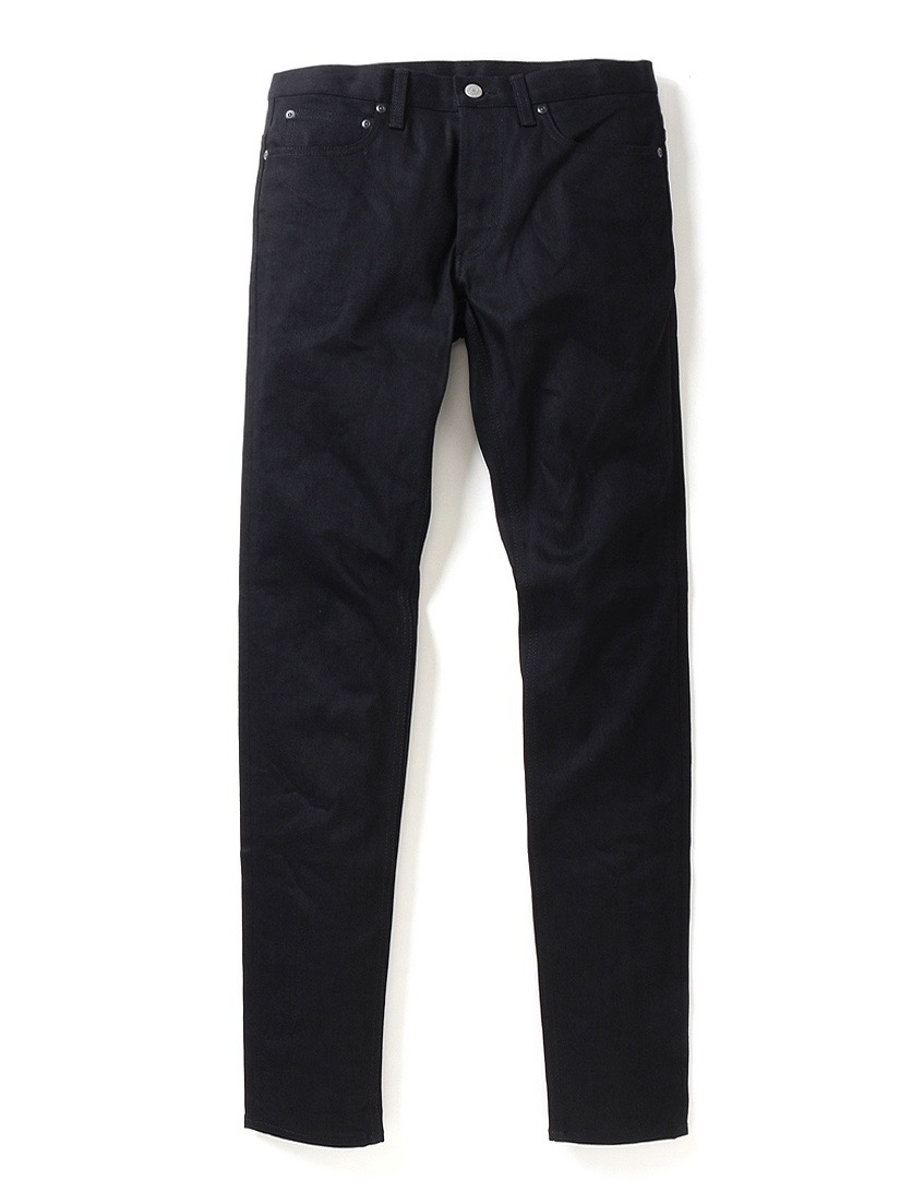 【Rags McGREGOR】SLIM 5P DENIM PANTS/BLACK RIGID