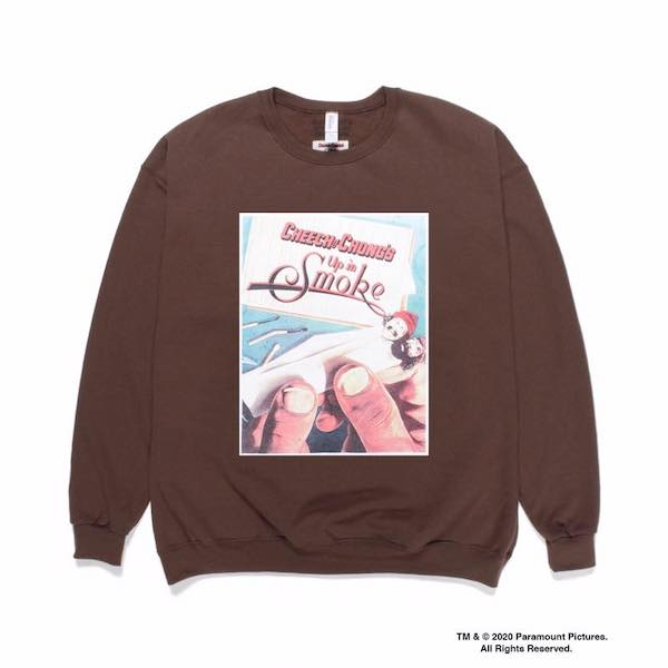 WACKO MARIA UP IN SMOKE / CREW NECK SWEAT SHIRT