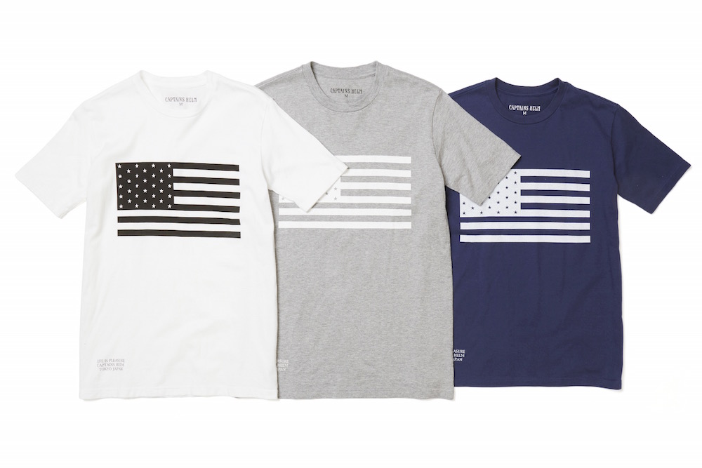 CAPTAINS HELM FLAG TEE