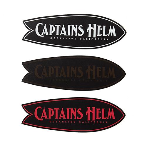 CAPTAINS HELM FISH MAGNET STICKER