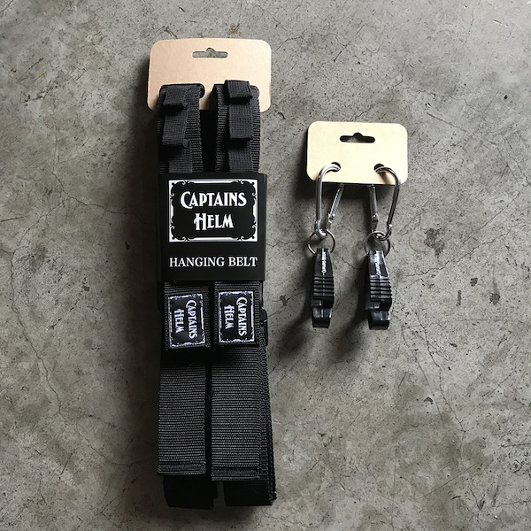 CAPTAINS HELM HANGING BELT & CARABINER CLIP