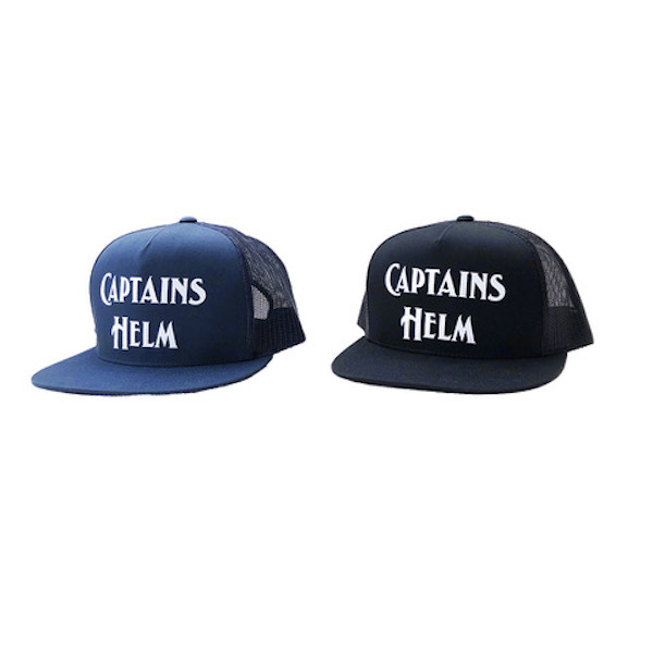 CAPTAINS HELM LOGO MESH CAP