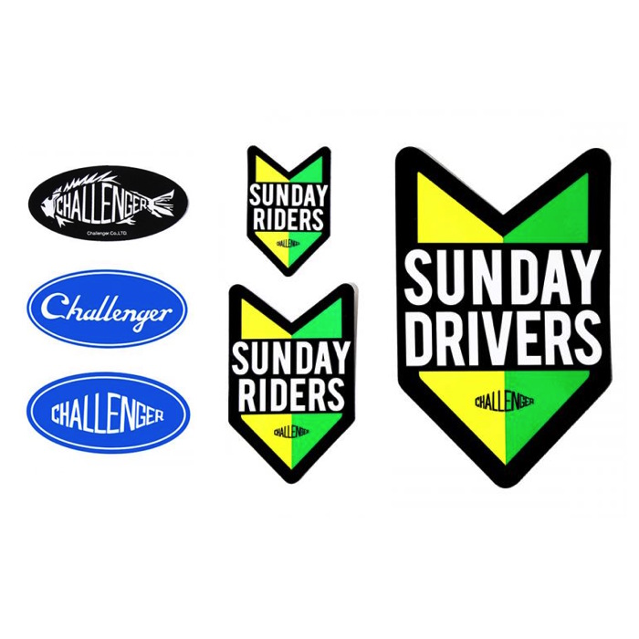 CHALLENGER OVAL LOGO STICKERS SUNDAY RIDERS