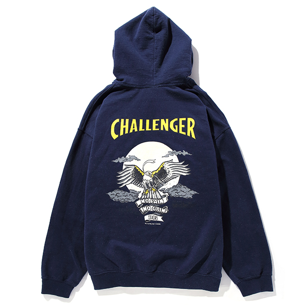 CHALLENGER SKULL & HAWK HOODIE