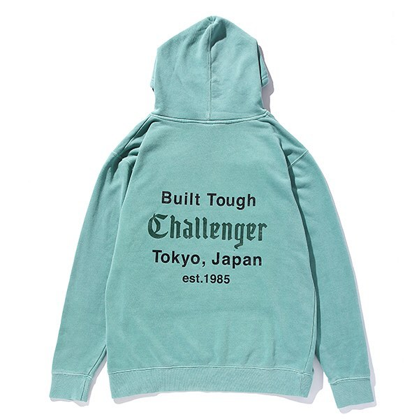 CHALLENGER DYED PRINTED HOODIE
