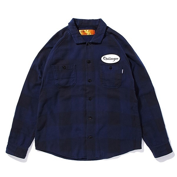 CHALLENGER L/S PATCH CHECK SHIRT