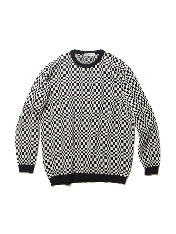 COOTIE Crazy Checkered Crewneck Sweater