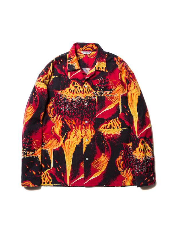 COOTIE Eruption Open-Neck Shirt