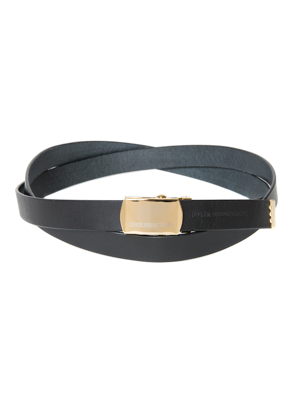COOTIE Leather Narrow G.I Belt