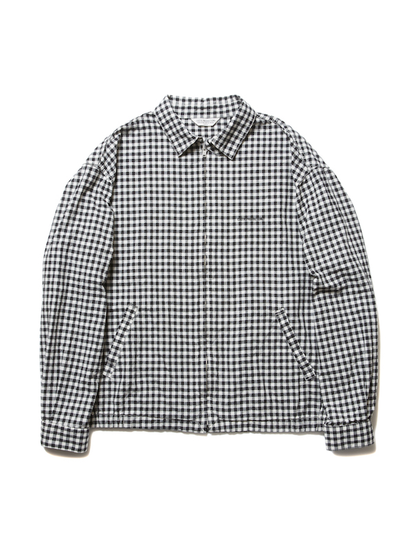 COOTIE Dobby Gingham Check Drizzler Jacket