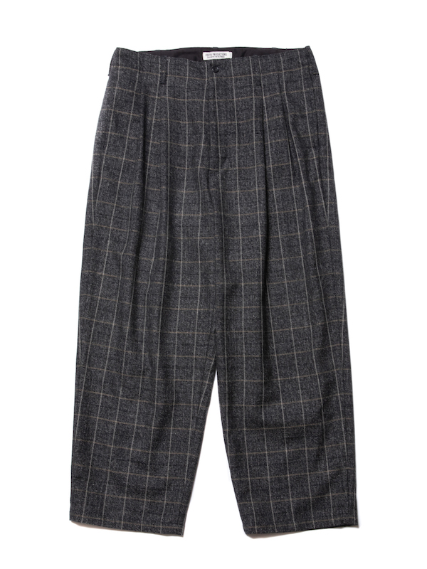 COOTIE Melange Wool 2 Tuck Trousers