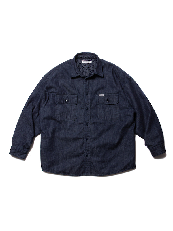 COOTIE Denim Quilting Shirt Jacket