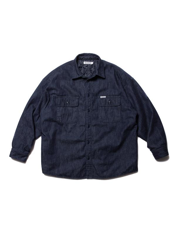 COOTIE Denim Quilting Shirt Jacket