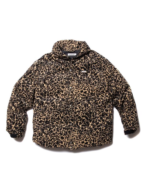 COOTIE Corduroy Leopard Oversized Down Jacket