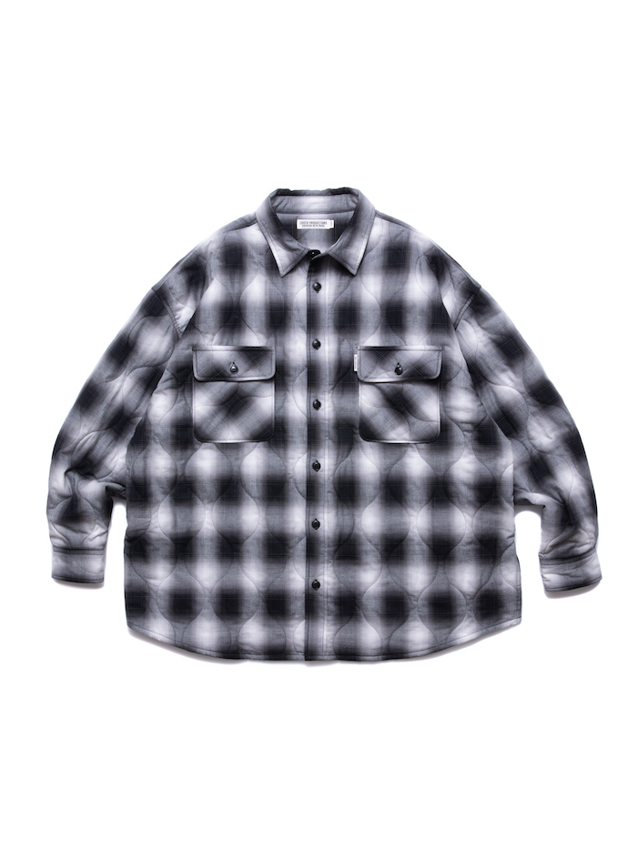 COOTIE Ombre Check Quilting CPO Jacket
