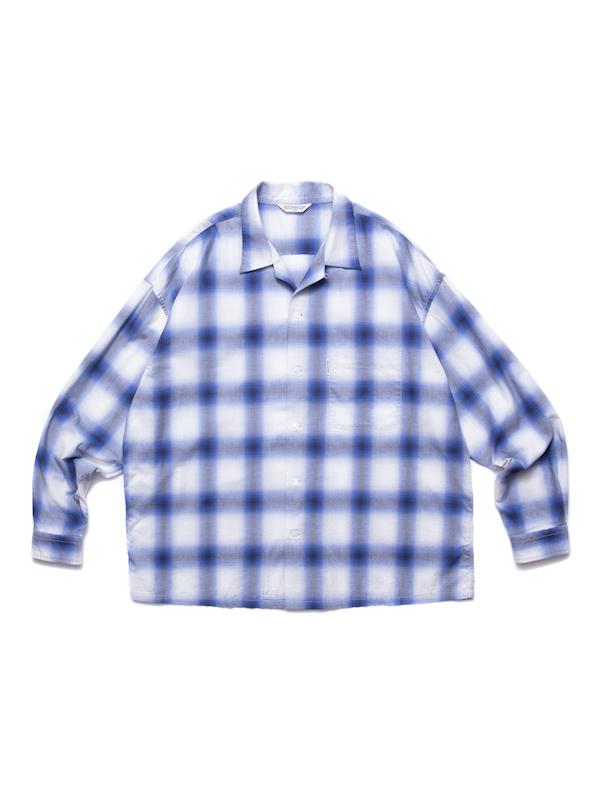 COOTIE Ombre Check Open Collar Shirt