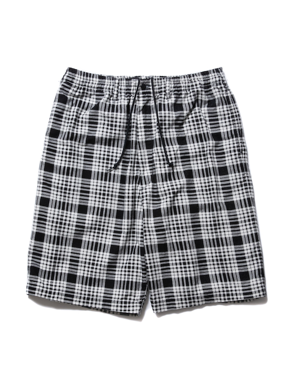 COOTIE Print Nel Check Easy Shorts